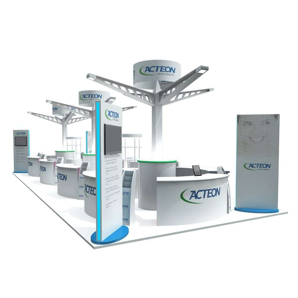 Custom Modular Exhibition Stands : Custom build u bespoke modular exhibition stands u rounded edge studio