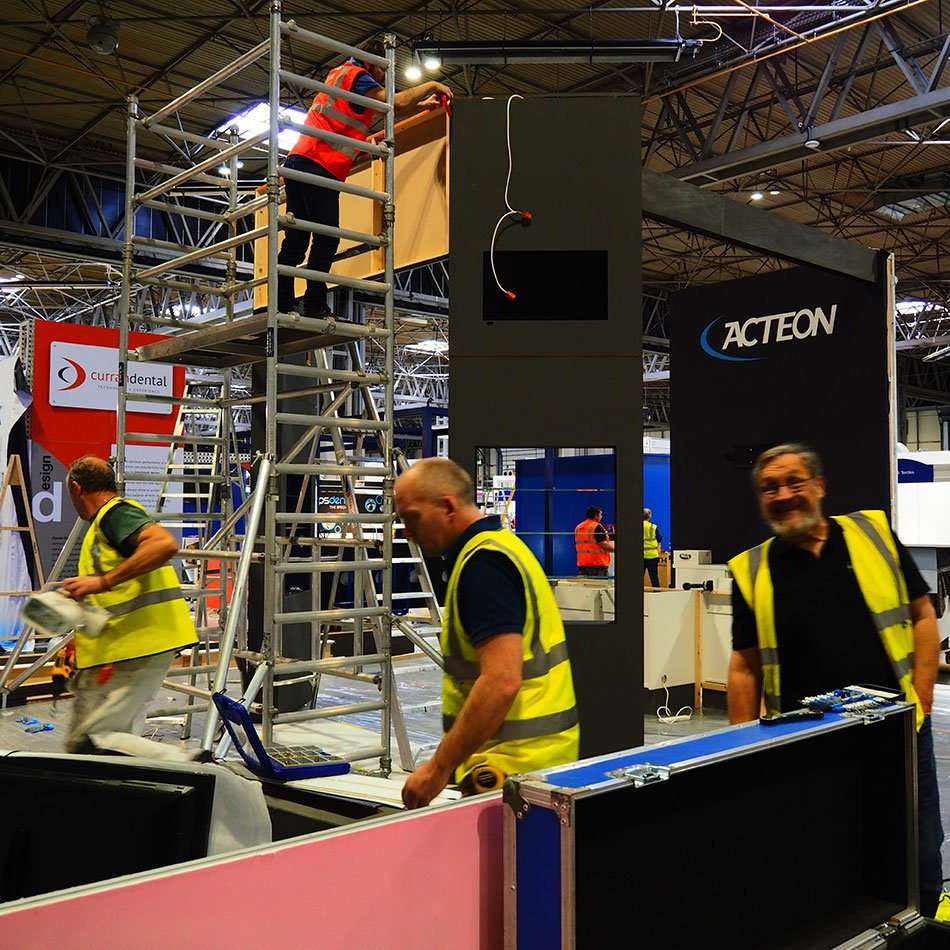 Exhibition Stand Installation : Stand installs u exhibition services u rounded edge studio